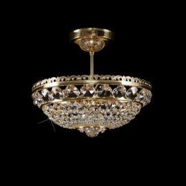 Plafoniera Cristal Bohemia diametru 35cm, auriu