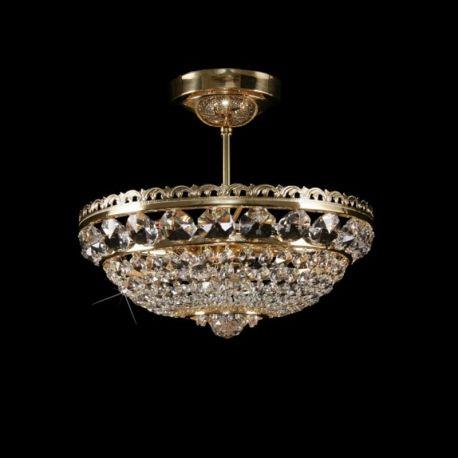 Plafoniere Cristal Bohemia - Plafoniera Cristal Bohemia diametru 35cm, auriu