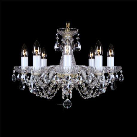 Lustre Cristal Bohemia - Lustra 8 brate cristal Bohemia