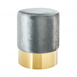 Taburete Modern Barock 35cm, argintiu/ auriu