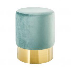 Banchete-Tabureti - Taburete Modern Barock 35cm, verde menta/ auriu