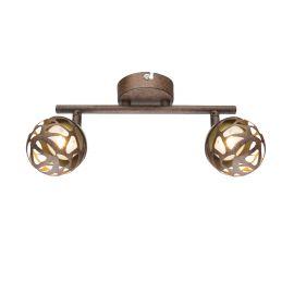 Plafoniere - Aplica LED perete / tavan metal rustic Ohio 2L