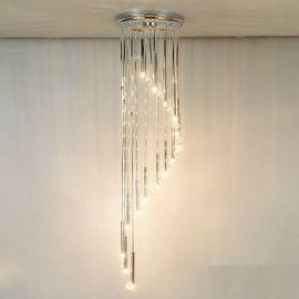 Corpuri de iluminat Lustre pentru casa scarii - Lustra casa scarii cu 16 surse de lumina si cristal Swarovski Spectra,Spiral