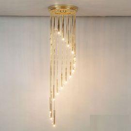 Lustra casa scarii cu 16 surse de lumina si cristal Swarovski Spectra,Spiral 165cm