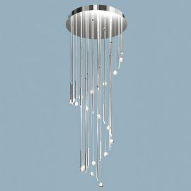 Lustra casa scarii, cristal Swarovski Spectra, Spiral 190cm