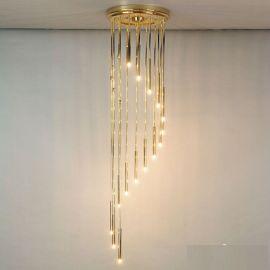 Corpuri de iluminat Lustre pentru casa scarii - Lustra casa scarii, diametru 44cm, H-165cm, Spiral