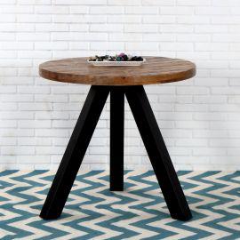 Mese dining - Masa rotunda, Masa bistro Iron Craft mango natur, 80cm
