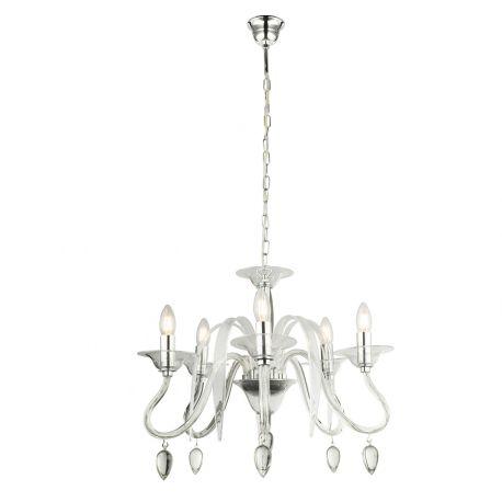 Candelabre, Lustre - Lustra design elegant Sissy crom / transparent