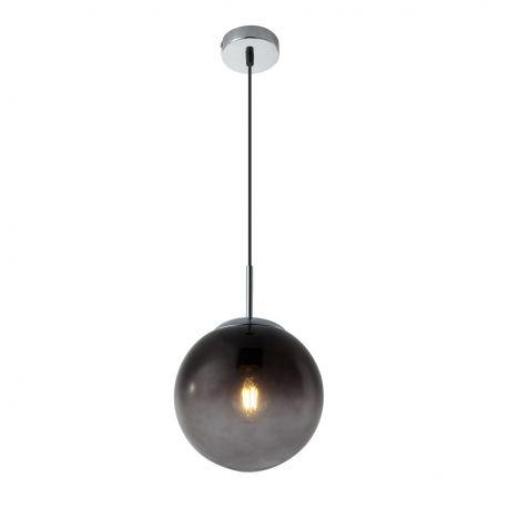 Pendule, Lustre suspendate - Lustra / Pendul modern Ø20cm VARUS nickel/fumuriu