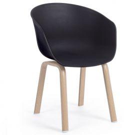 Seturi scaune, HoReCa - Set de 2 scaune design modern NAPOLEON, negru