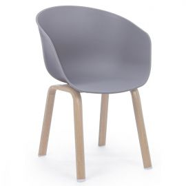 Set de 2 scaune design modern NAPOLEON, gri