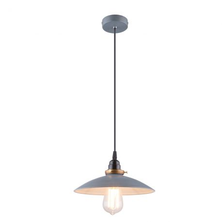 Pendule, Lustre suspendate - Lustra / Pendul stil industrial Ø26cm Joffrey gri/alama antic