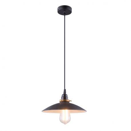Pendule, Lustre suspendate - Lustra / Pendul stil industrial Ø26cm Joffrey negru/alama antic