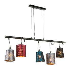 Pendule, Lustre suspendate - Lustra moderna suspendata catifea design multicolor TICON