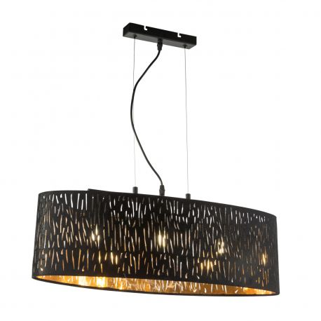 Pendule, Lustre suspendate - Lustra ovala moderna catifea design elegant Tuxon