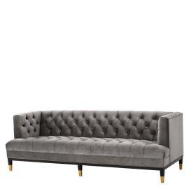 Canapea eleganta design LUX Castelle, catifea gri
