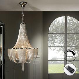Lustra LED dimabila cu telecomanda design elegant Ø55cm MINERVA