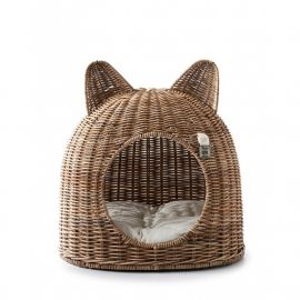 Culcusuri animale - Cos din rattan pentru pisica Cat House