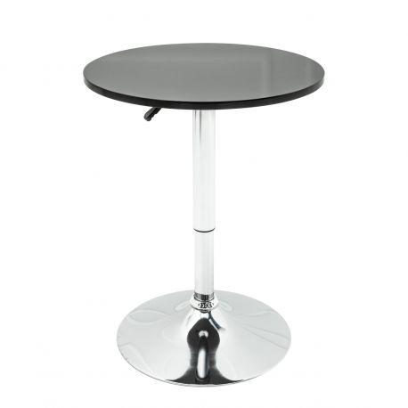Mese Bar - Masa rotunda bistro sau bar cu inaltime reglabila Move, negru