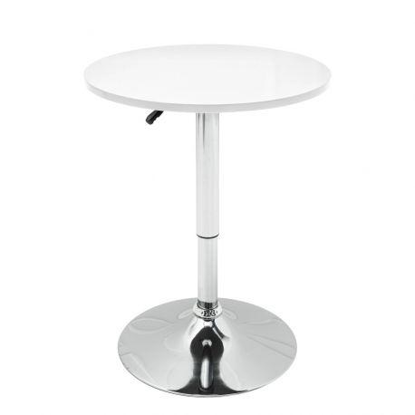 Mese Bar - Masa rotunda bistro sau bar cu inaltime reglabila Move, alb