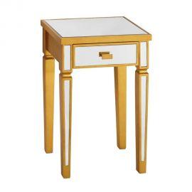 Noptiere - Noptiera eleganta placata cu oglinda Oro