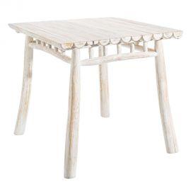 Masa din lemn design rustic BLANCO DECAPÉ, 80x80cm