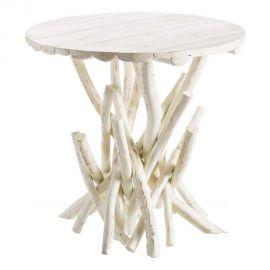 Masa din lemn design rustic BLANCO DECAPÉ, 80cm