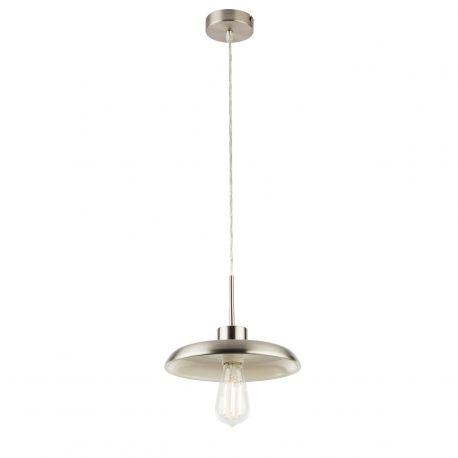Pendule, Lustre suspendate - Pendul vintage design retro Ø25cm DARENU nickel