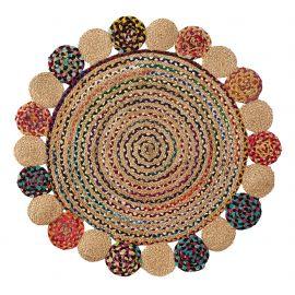 Covoare - Covor rotund din iuta GINNIS 100cm, multicolor