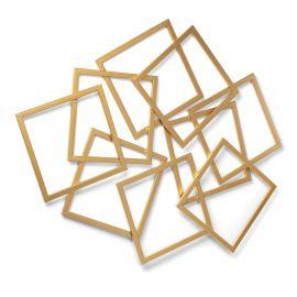Decoratiuni perete - Decoratiune de perete din metal auriu MENTA, 94x113cm