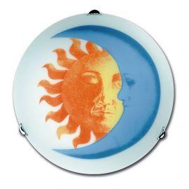 Iluminat pentru copii - Aplica perete sau tavan camera copii Sole-luna, 30cm