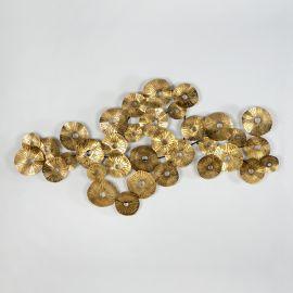 Decoratiuni perete - Decoratiune de perete din metal auriu Escultura, 150x55cm
