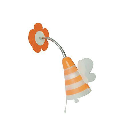 Iluminat pentru copii - Aplica perete camera copii FATINA, portocaliu