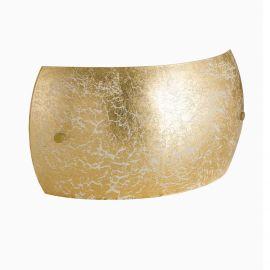 Aplice, corpuri de iluminat pentru pereti - Aplica cu abajur din sticla aurie Vanity