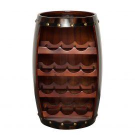 Raft pentru sticle- Bar design colonial Chateau 60cm coffee