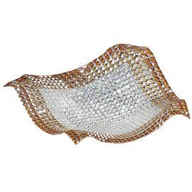 Lustra eleganta design modern cu cristale K9 Rumba chihlimbar