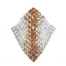 Aplice, corpuri de iluminat pentru pereti - Aplica eleganta design modern cu cristale K9 Rumba chihlimbar