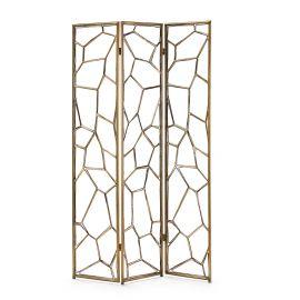 Decoratiuni - Paravan decorativ din metal auriu Screen