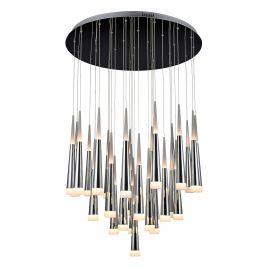 Corpuri de iluminat Lustre pentru casa scarii - Lustra LED design modern XXL Brina 31 Chrome