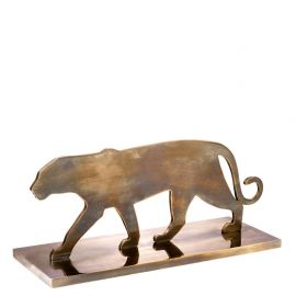 Statuete - Statueta/ Obiect decorativ Panther Silhouette
