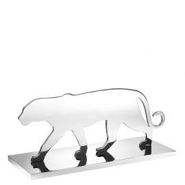 Statuete - Statueta/ Obiect decorativ Panther Silhouette nickel