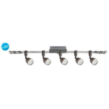 Plafoniere cu spoturi, Spoturi aplicate - Sistem de cabluri cu 5 spoturi LED directionabile Tony