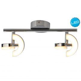 Plafoniere cu spoturi, Spoturi aplicate - Plafoniera LED moderna cu 2 spoturi directionabil Affi