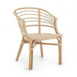 Scaune - Scaun cu brate pentru interior si exterior din rattan CONFIDENCE, natur