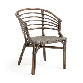 Scaune - Scaun cu brate pentru interior si exterior din rattan CONFIDENCE, maro