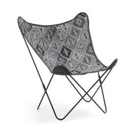 Fotolii - Fotoliu confortabil design fluture, FLYNN, tesatura gri inchis