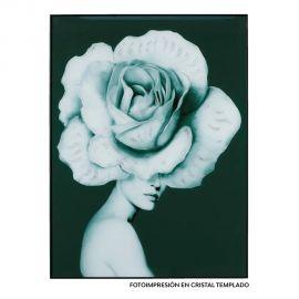 Tablouri - Tablou decorativ Floare gri/ alb, 120x90cm