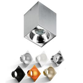 Plafoniere cu spoturi, Spoturi aplicate - Spot aplicat tavan/plafon stil modern Hugo Aluminiu