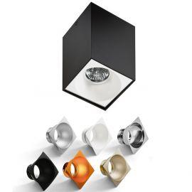 Plafoniere cu spoturi, Spoturi aplicate - Spot aplicat tavan/plafon stil modern Hugo negru