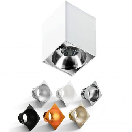 Plafoniere cu spoturi, Spoturi aplicate - Spot aplicat tavan/plafon stil modern Hugo alb